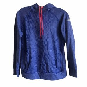 Adidas Ultimate Hoodie Blue Pullover ClimaWarm